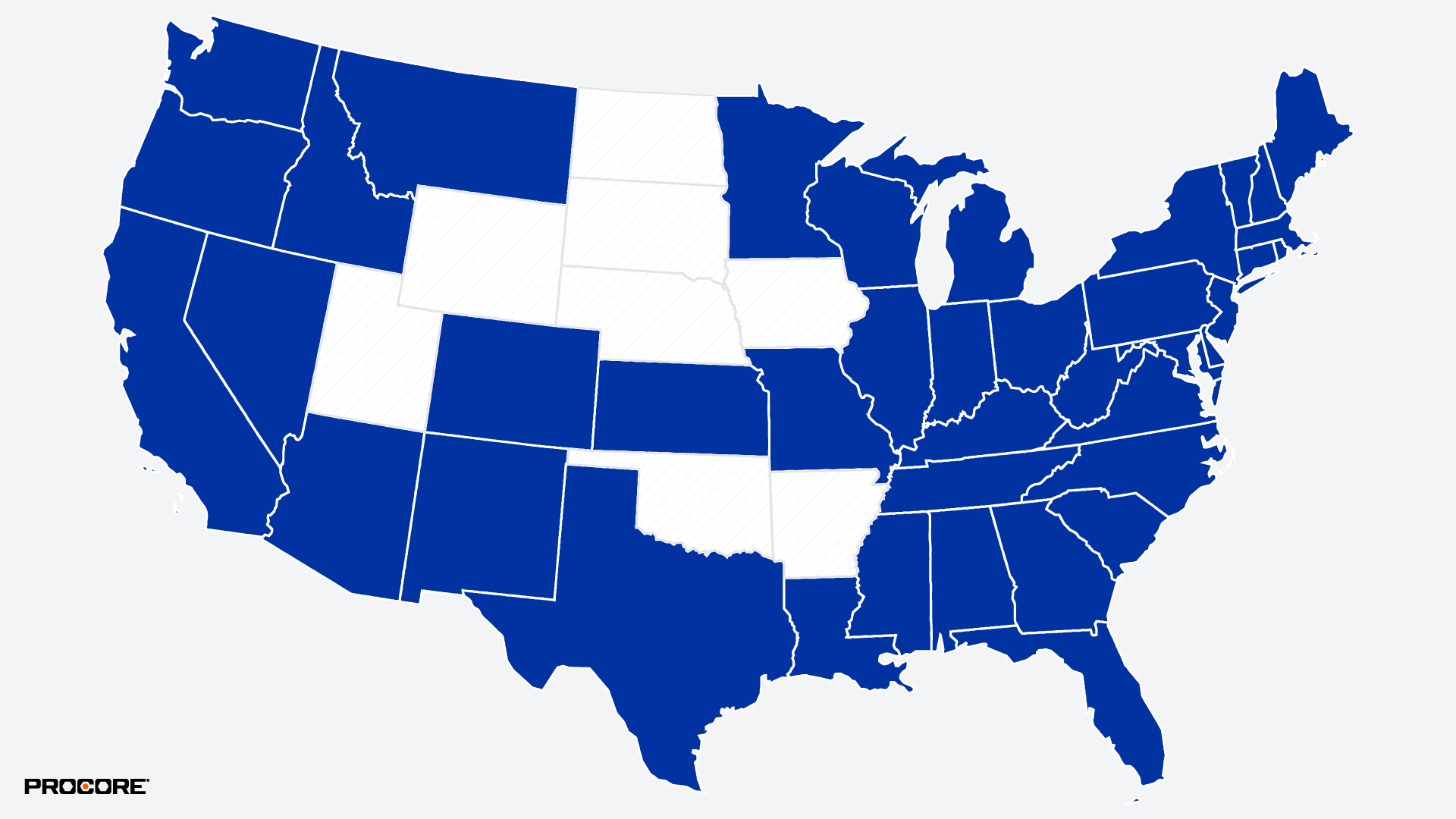 Map of US states reopening