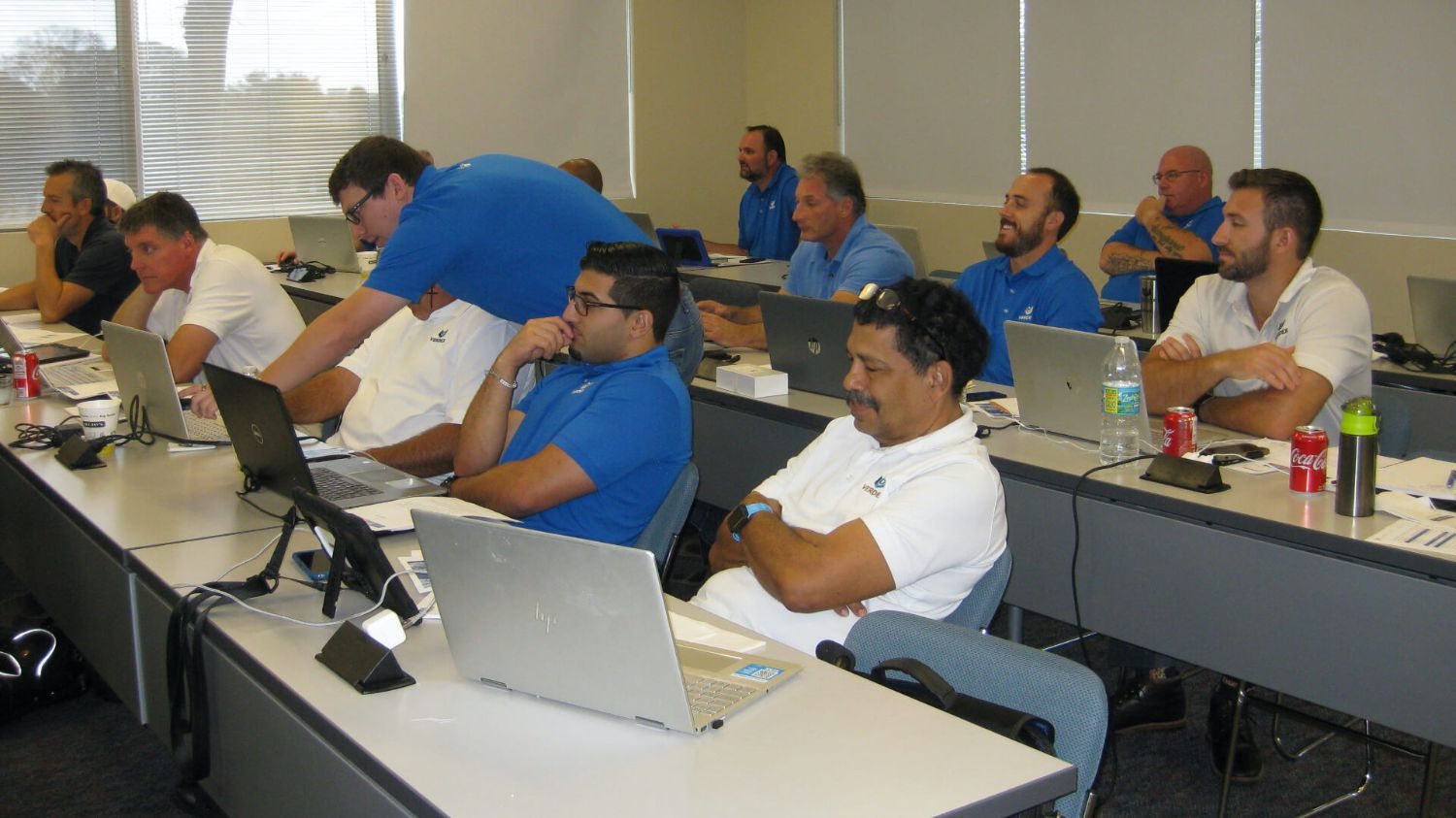 Verdex employees in training