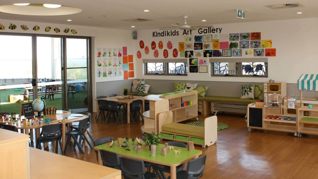 Kindergarten's art room