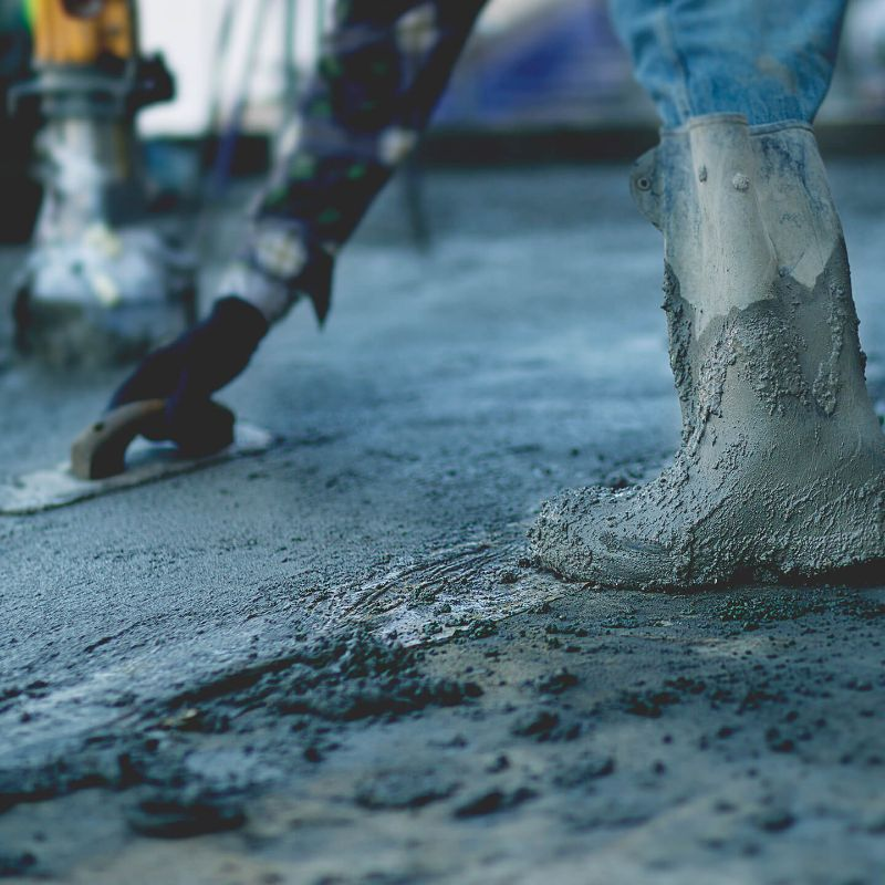 concrete soaked gumboot working on wet concrete