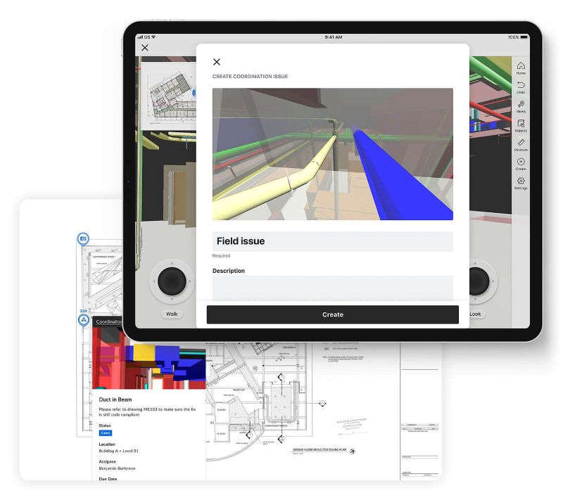Procore BIM Design Coordination screens