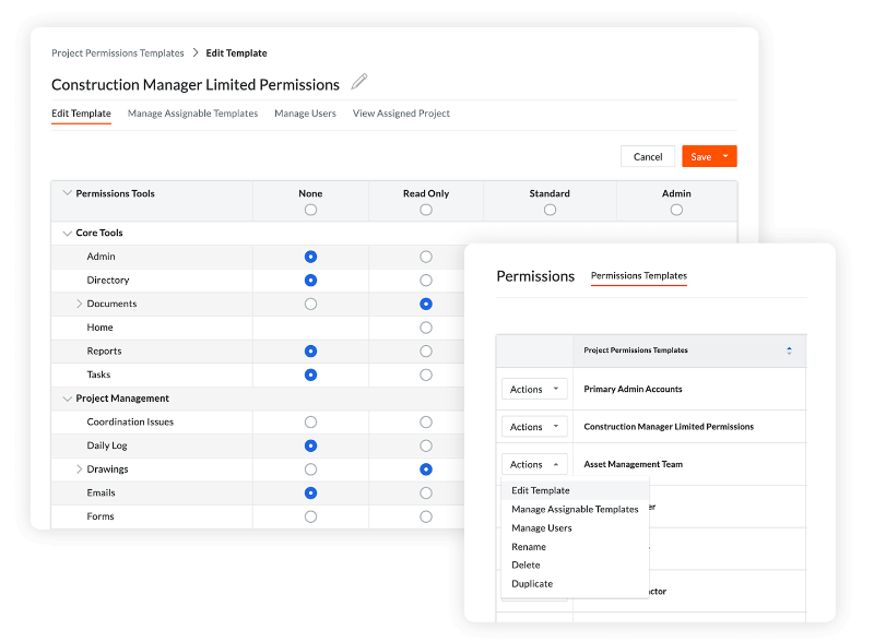 Procore Capital Improvements security screens