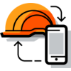 hardhat and phone icon