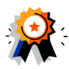 Certification ribbon icon