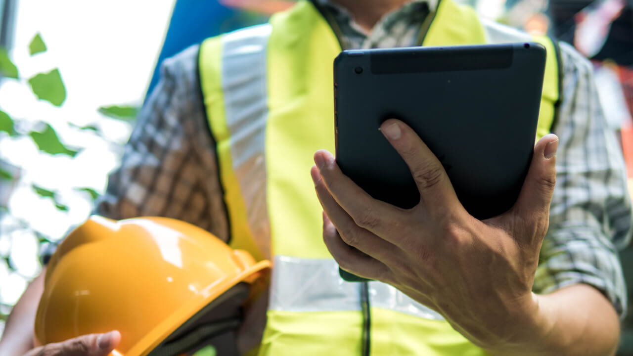 Construction Manager on an iPad