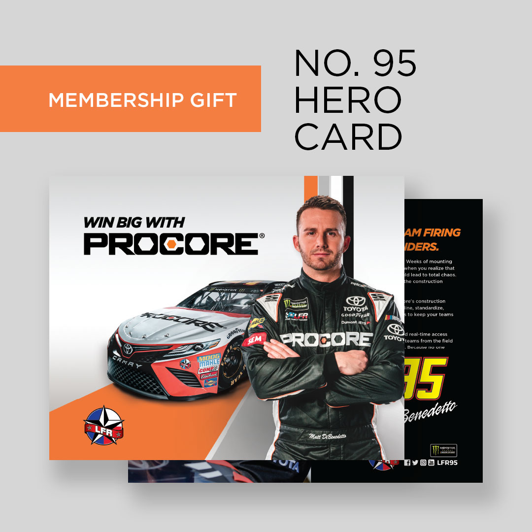 Hero card for Procore Nascar car #95
